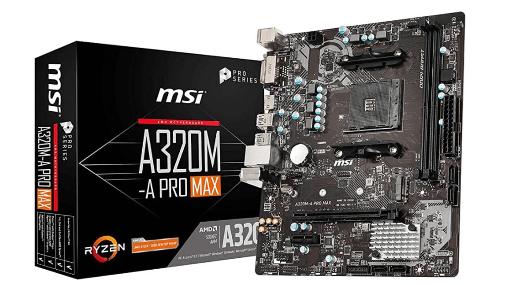 MSI A320M-A PRO MAX AMD AM4 Socket m-ATX Motherboard